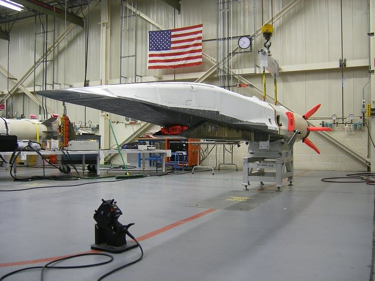 An earlier generation of hypersonic weapon: The X-51A WaveRider in 2010.
