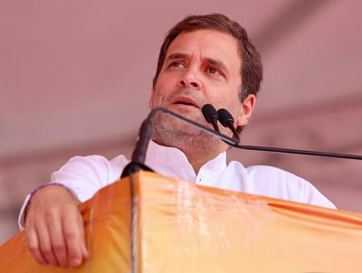Ludhiana: Congress President Rahul Gandhi addresses a public rally in Ludhiana, Punjab, on May 13, 2019. (Photo: IANS)