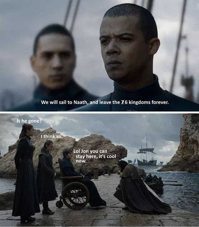 Many questioned how unsullied did not kill Jon and Tyrion and called for the counsel instead?