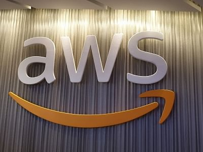 AWS logo.