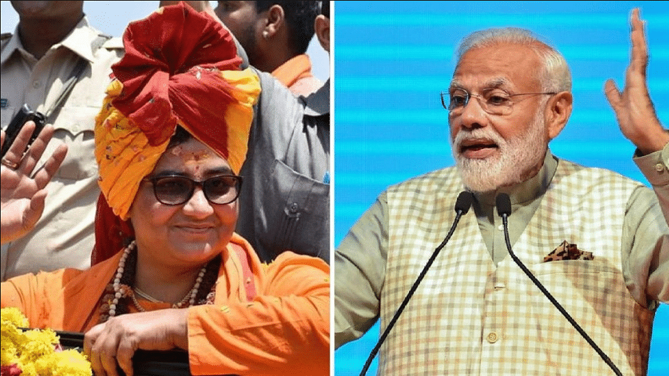 """""""But in my heart, I cannot forgive her,"""" said the PM Modi on Pragya Thakur's comment calling Godse 'deshbhakt'."""