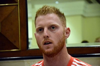 Mumbai: England cricketer Ben Stokes during a press conference ahead of ICC T20 World Cup in Mumbai on March 9, 2016. (Photo: IANS)