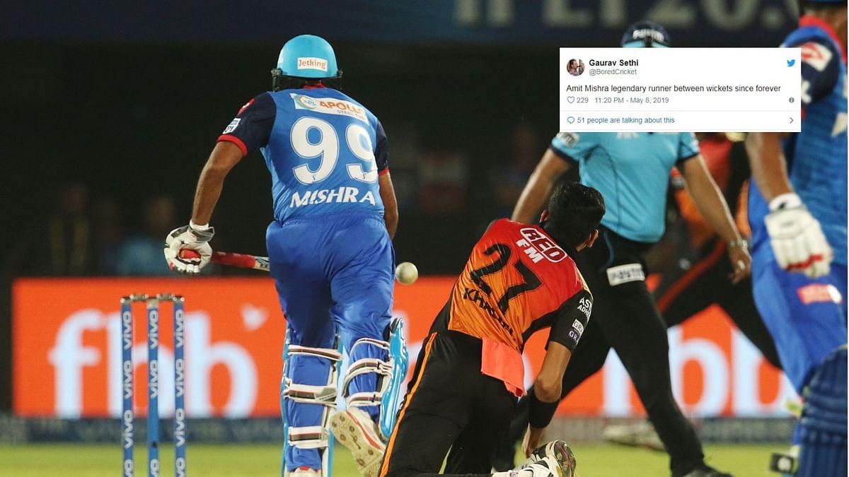 """Legendary Runner"": Twitter Trolls Amit Mishra After Run Out"