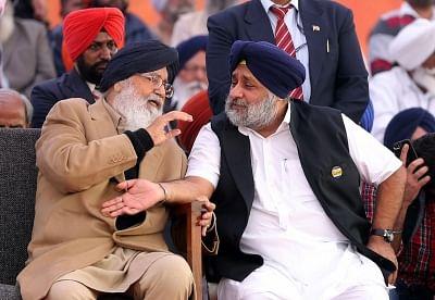 Parkash Singh Badal and Sukhbir Singh Badal.