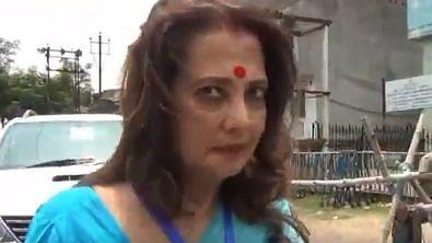Trinamool Congress' Asansol candidate Moon Moon Sen.