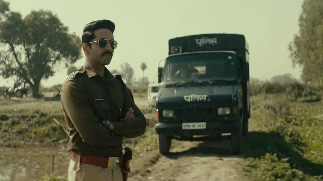 Ayushmann Khurrana in a still from&nbsp;<i>Article 15.</i>