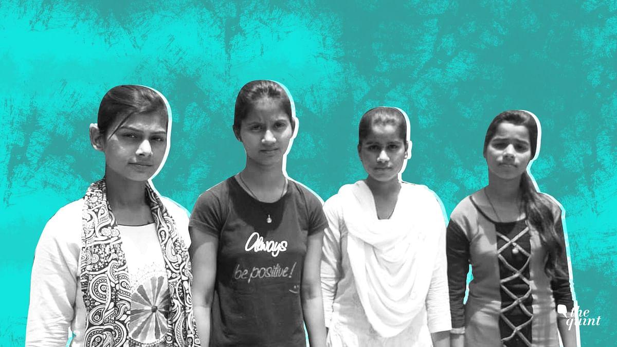 From left to right: Preeti Kumari, Baby, Gudiya Yadav and Ankita Yadav.