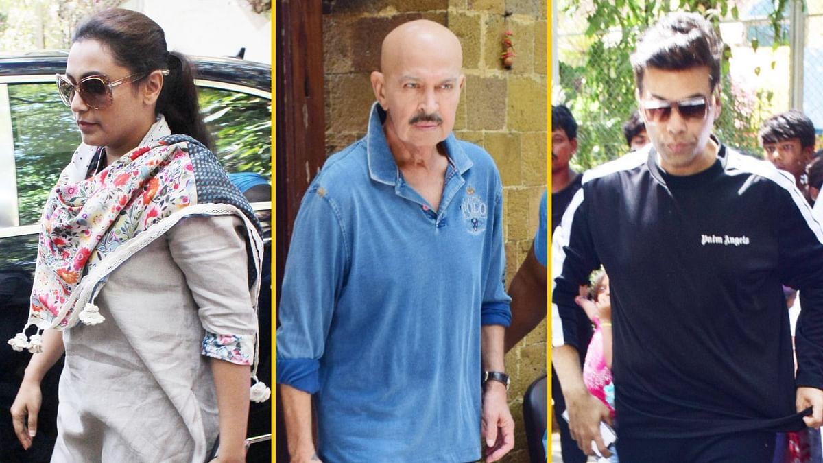 Pics: Rani, KJo, Rakesh Roshan Visit Ajay to Offer Condolences