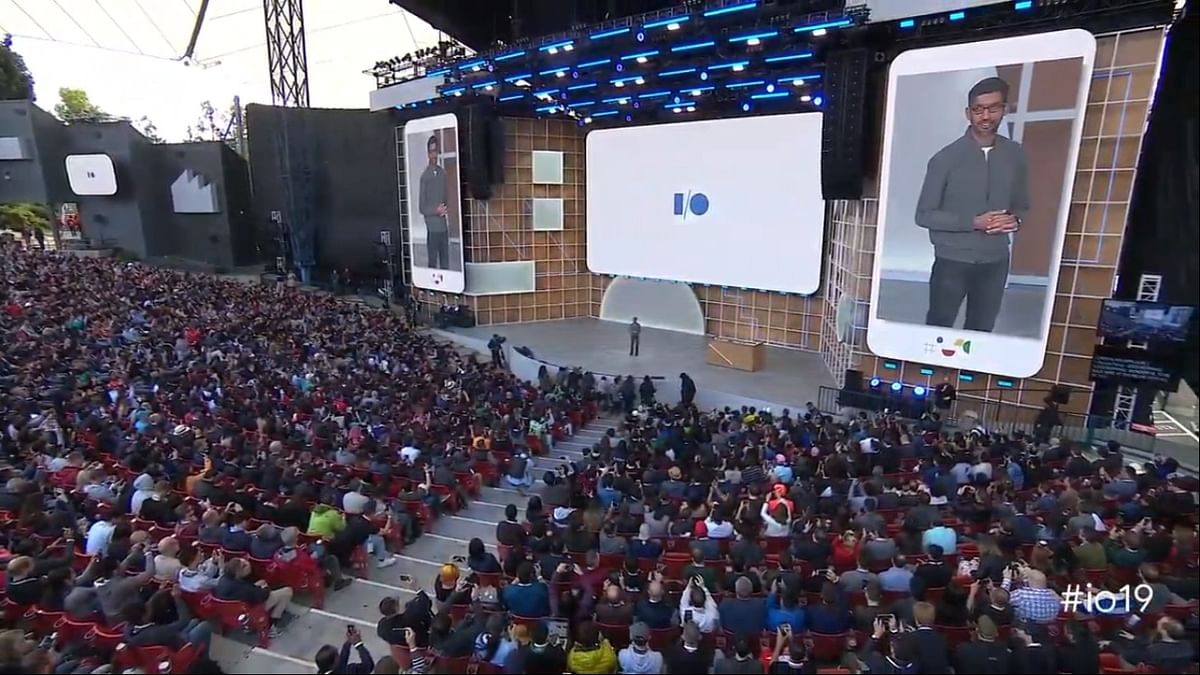 Sundar Pichai at the Google I/O 2019 keynote.