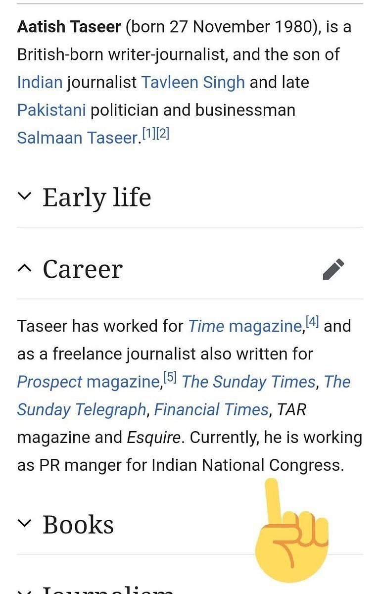 After TIME Article, Author's Wikipedia Bio Edited to Add Cong Link