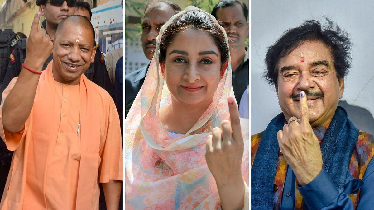 Yogi, Harsimrat, Shatrughan Among Politicos Who Voted in 7th Phase