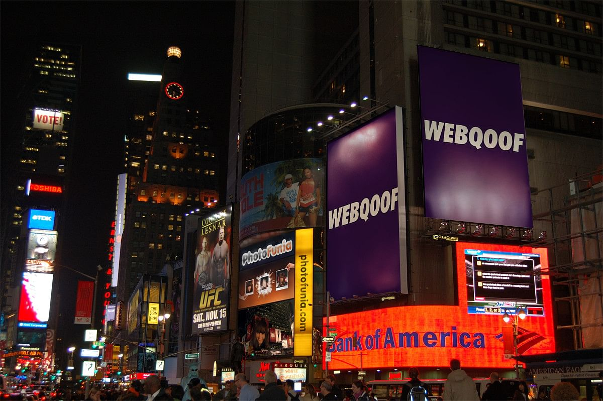 We put WebQoof banners in the same place as that of Odisha billboards in the viral image.