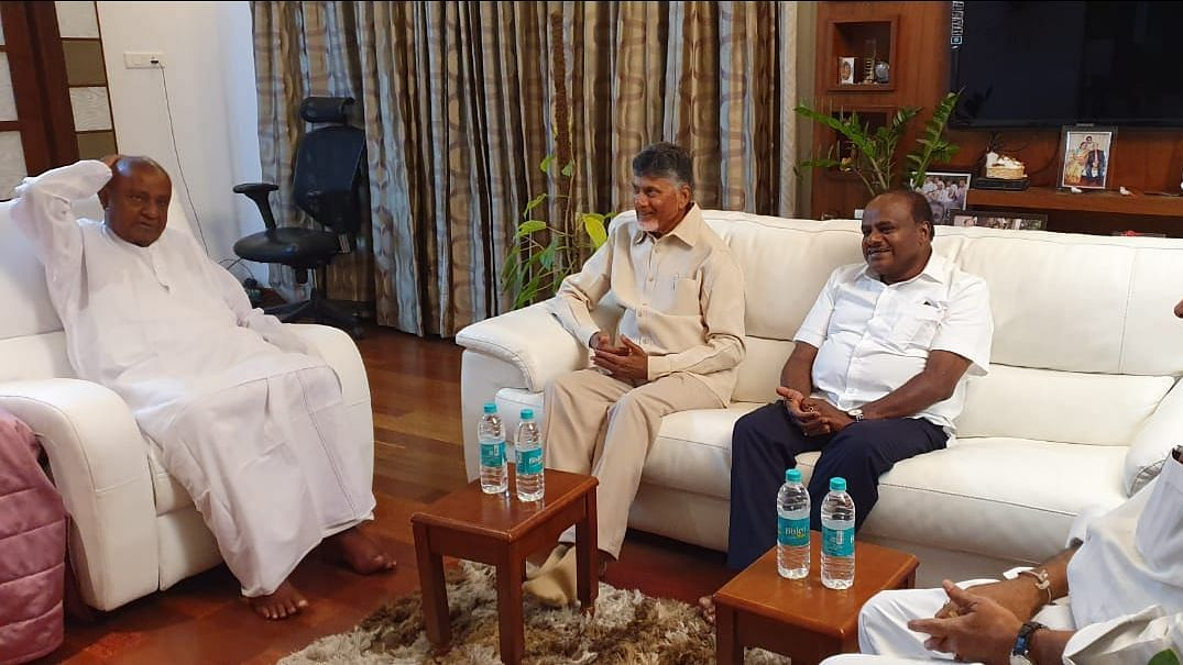 Nothing Wrong in it: Naidu on Rahul as PM After Meeting Deve Gowda