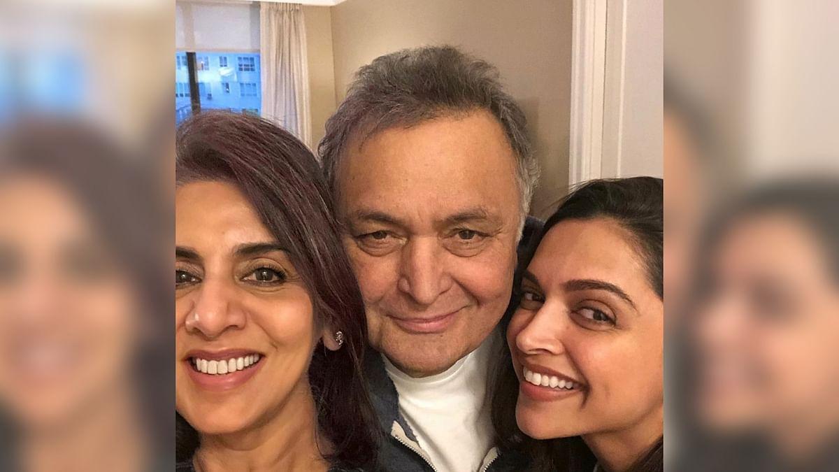 Deepika Padukone Meets Rishi and Neetu Kapoor in New York