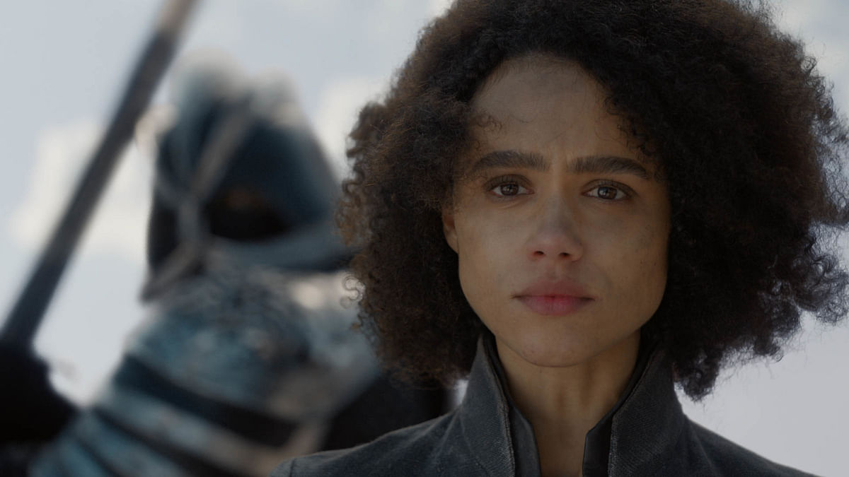 Missandei, moments before she is beheaded