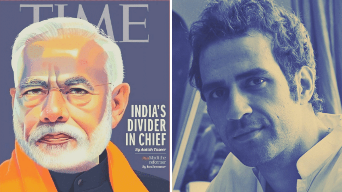 Aatish Taseer (R)is the author of the controversial <i>TIME magazine</i> essay, 'India's Divider In Chief' (L).