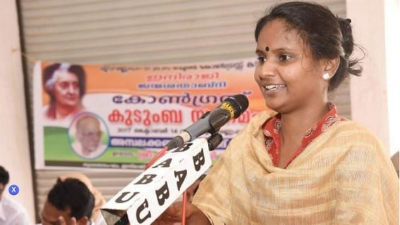 Ramya Haridas, United Democratic Front (UDF) candidate from the Alathur constituency.