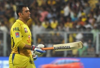 MS Dhoni. (Photo: Kuntal Chakrabarty/IANS)