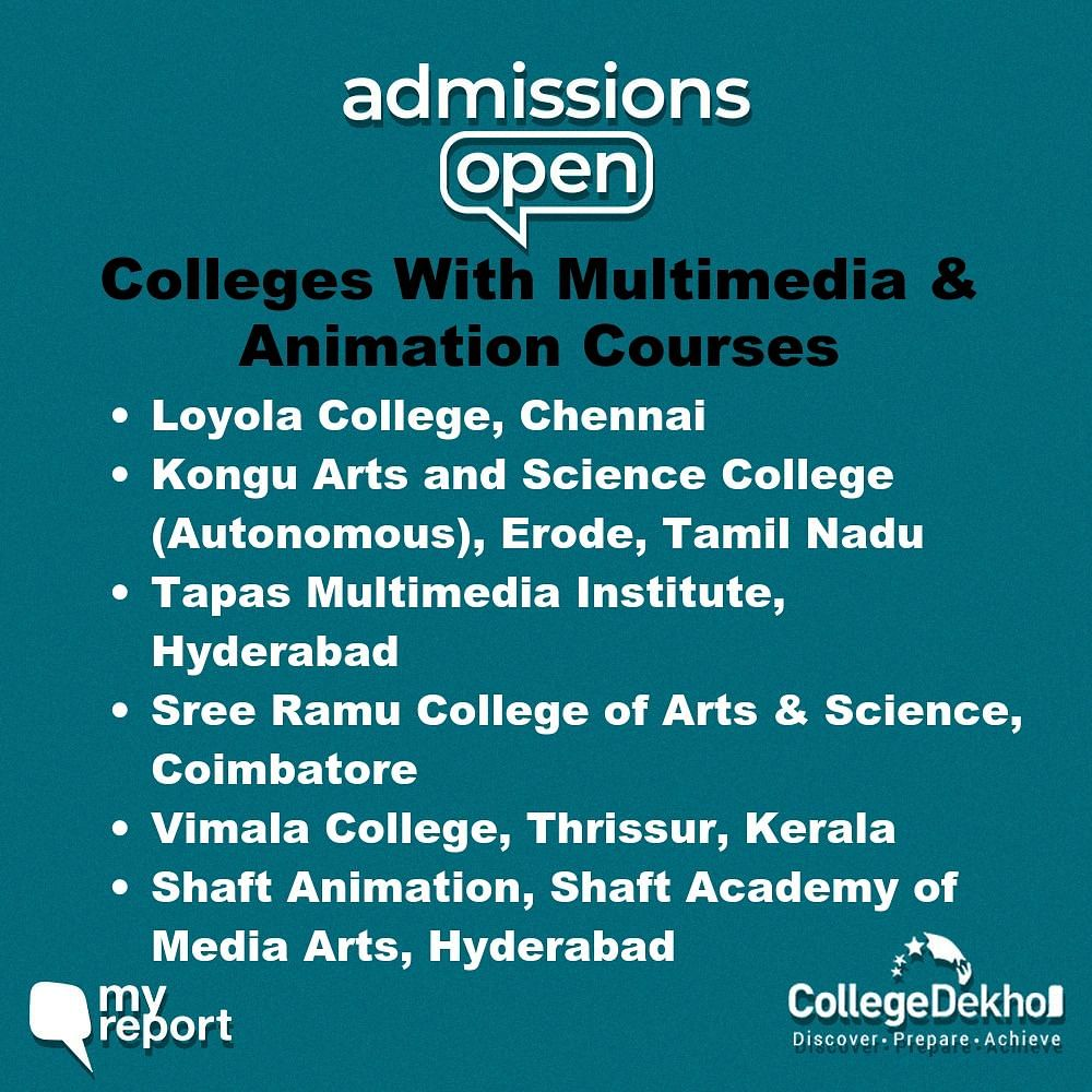 Which Colleges Offer Multimedia and Animation Courses?
