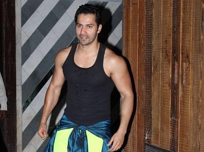 Mumbai: Actor Varun Dhawan seen outside a gym in Mumbai