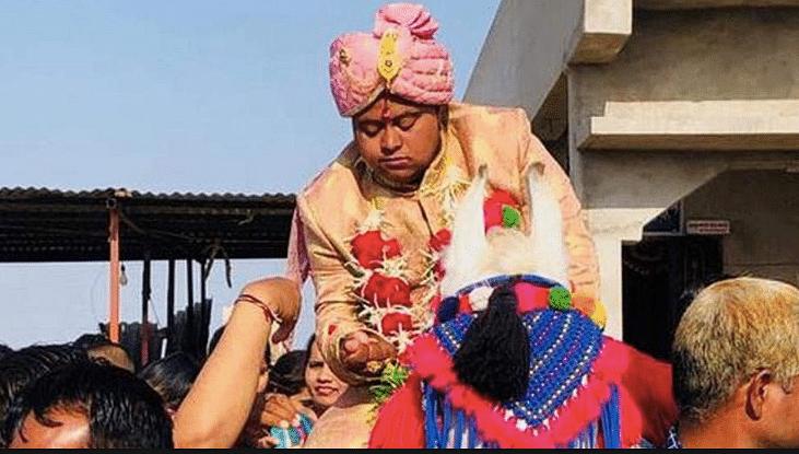 Ajay Barot during his wedding celebrations.