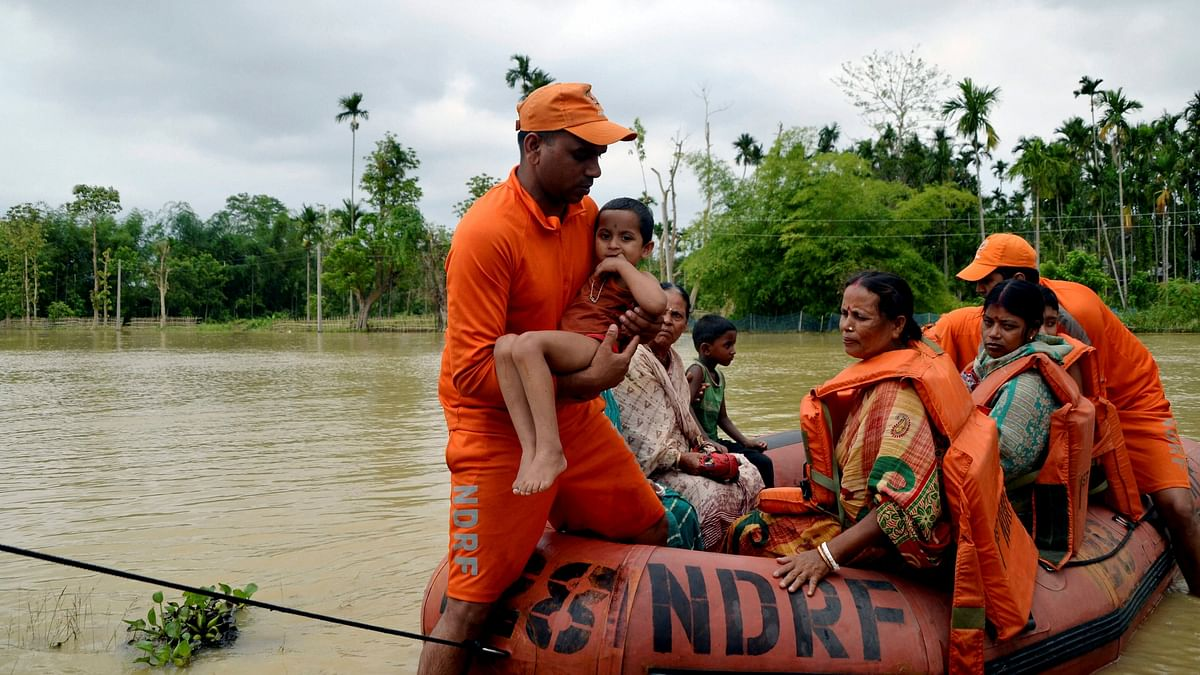 Flash Flood Hits Tripura, Families Take Shelter in Relief Camps