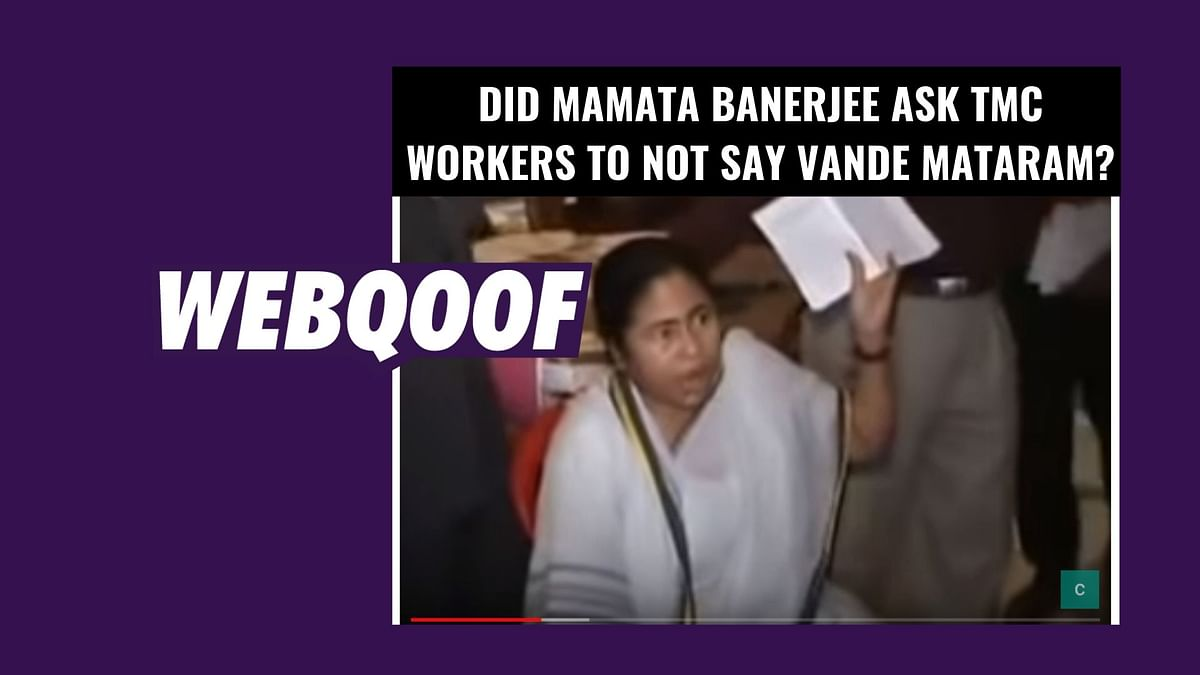 A video has gone viral on social media in which party workers can be seen creating a ruckus, allegedly after Mamta Banerjee asked them not to say Vande Mataram.