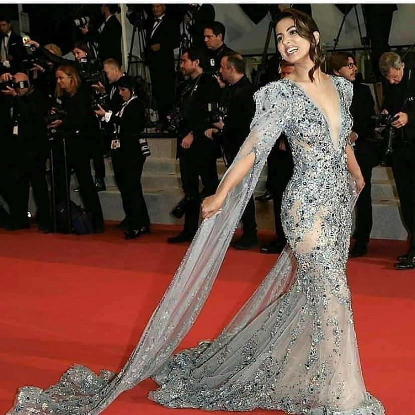 Hina Khan shimmers on the red carpet at Cannes 2019.