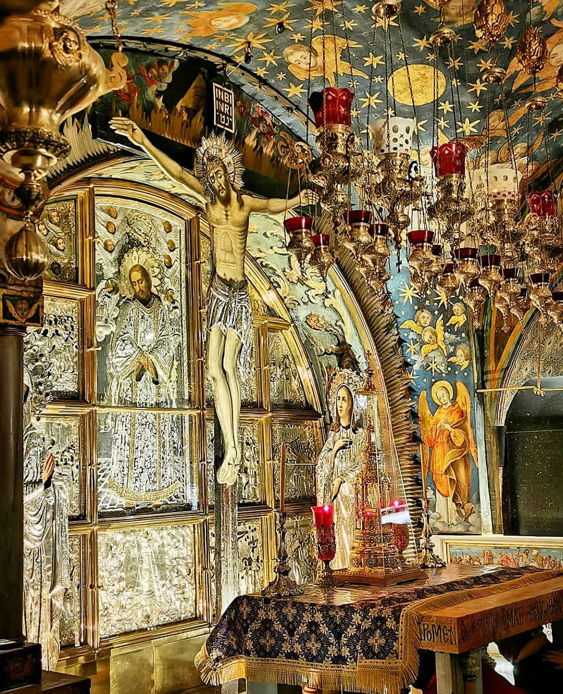Calvary or Golgotha, the spot where Jesus of Nazareth was believed to have been crucified.