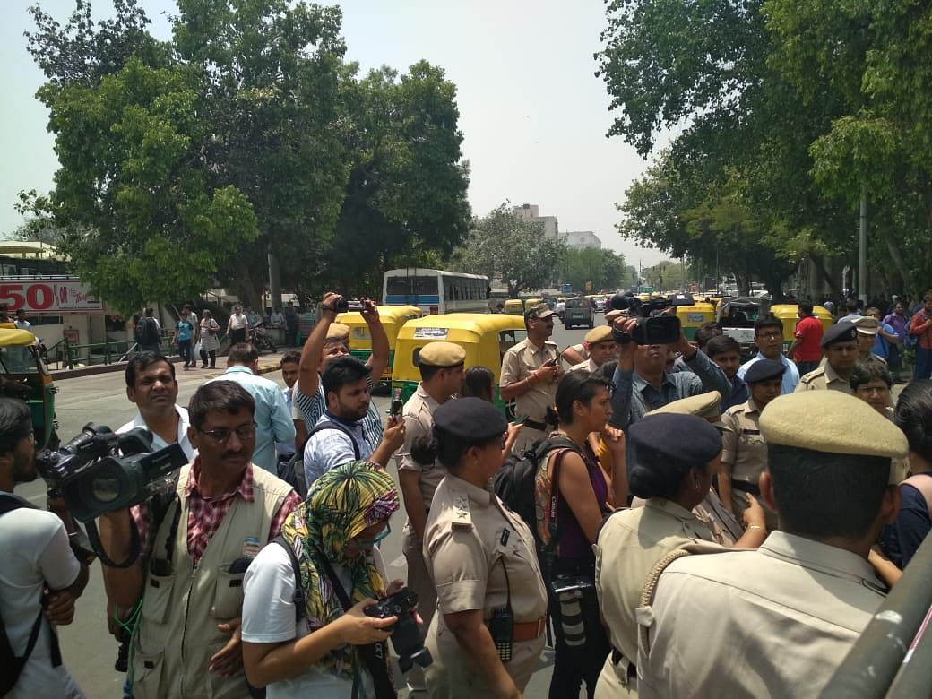 CJI Row: Delhi Police Detains Protesters Third Day in A Row