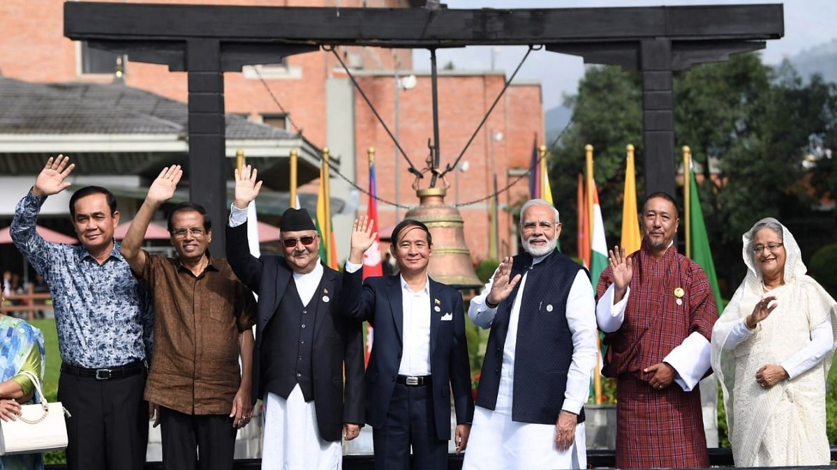 File photo of PM Modi and other leaders from BIMSTEC in its last meeting in Kathmandu. Image used for representation.