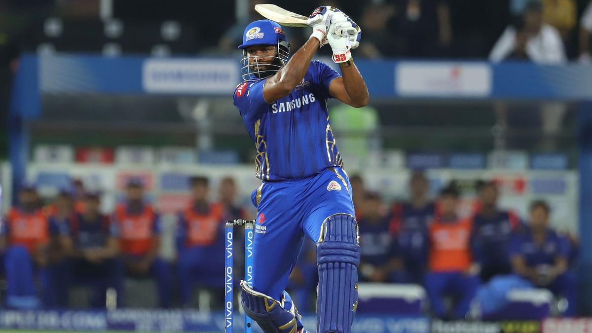 Kieron Pollard was unbeaten on 41 as Mumbai Indian finished with 149/8 in 20 overs.