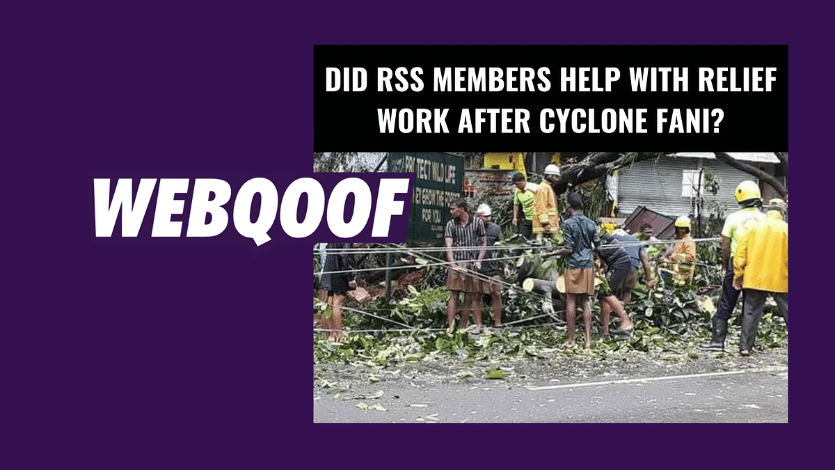 RSS Workers Doing Post-Fani Relief Work? No, Those Are Old Photos