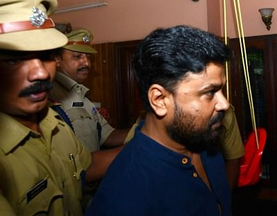 Kochi: Malayalam actor Dileep being taken to Aluva jail on July 11, 2017. Malayalam actor Dileep was arrested by police regarding an abduction case of an actress at Aluva in Kochi.