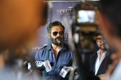 Mumbai: Actor Suniel Shetty at the launch of an eyewear boutique in Mumbai