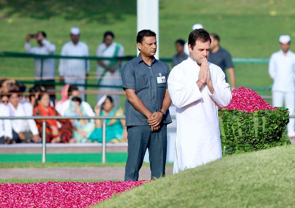 Rahul Gandhi while paying tribute to Nehru on his 55th death anniversary.