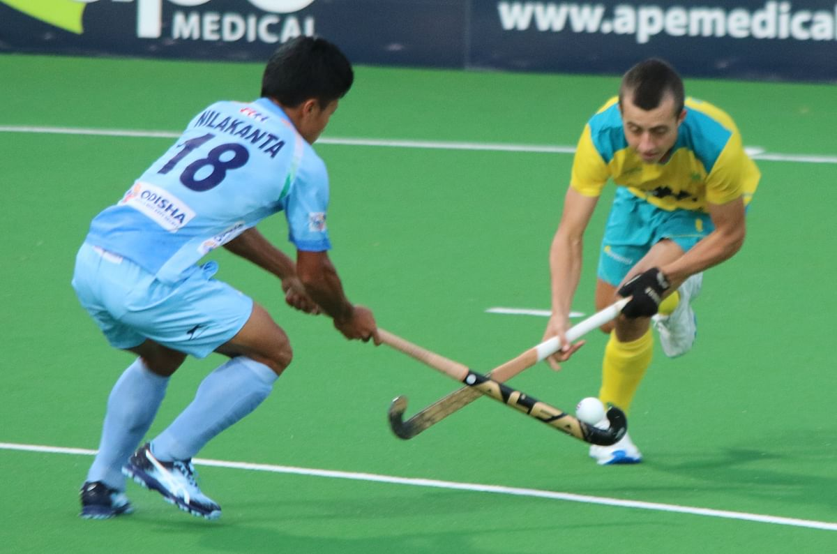 Nilakanta Sharma (12th) scored India's first goal.