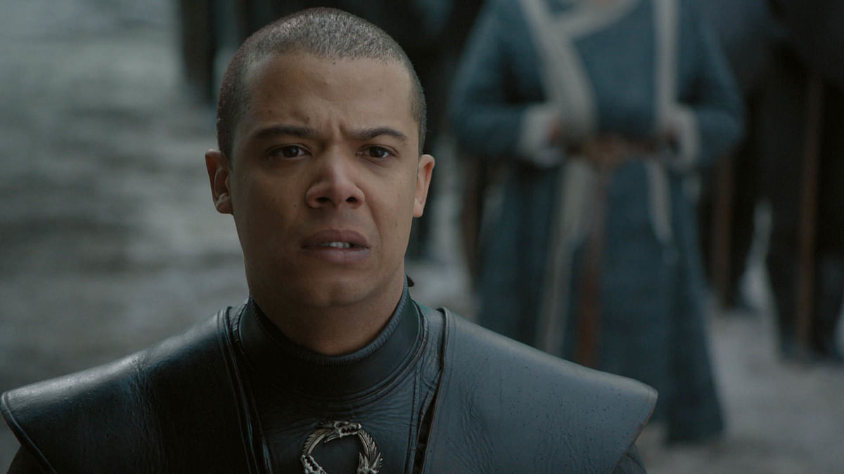 Greyworm watches as Missandei is beheaded.