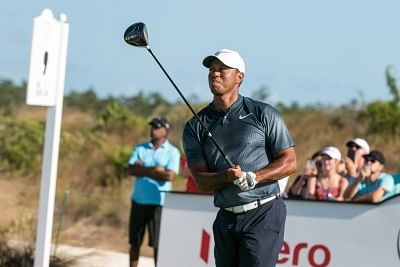 Albany: Golfer Tiger Woods during the third round of Hero World Challenge 2017 at Albany Championship Course in the Bahamas. (Photo: IANS)