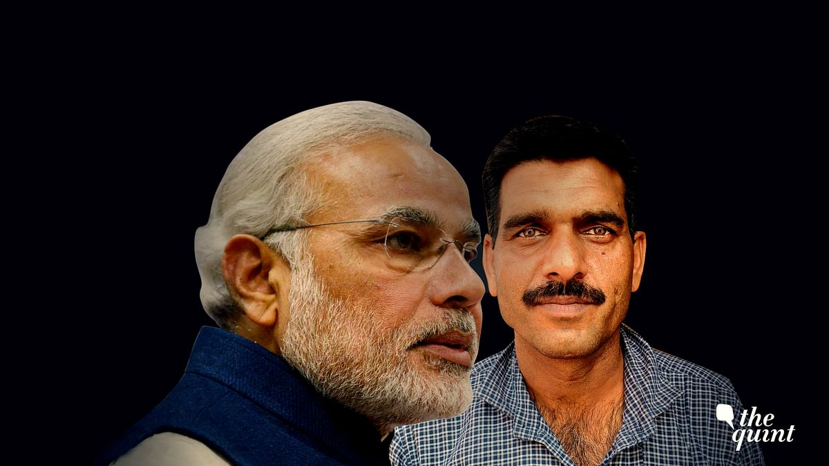Image of PM Modi and ex-BSF jawan Tej Bahadur Yadav, used for representational purposes.
