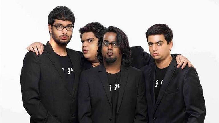 Gursimran Khamba, Tanmay Bhat, Ashish Shakya and Rohan Joshi of comedy collective All India Bakchod (AIB).