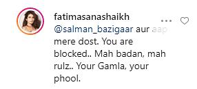 My Life, My Rules: Fatima Sana Shaikh Shuts Troll for Body Shaming