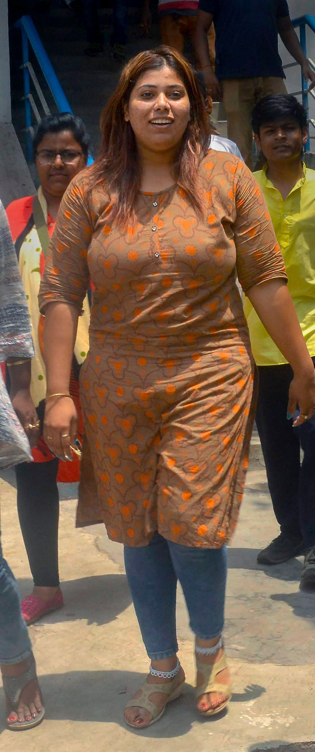 BJYM worker Priyanka Sharma.