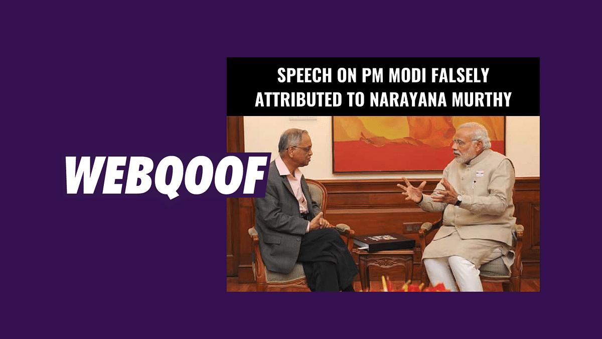 Fake Speech on PM Modi Attributed to Infosys' Narayana Murthy