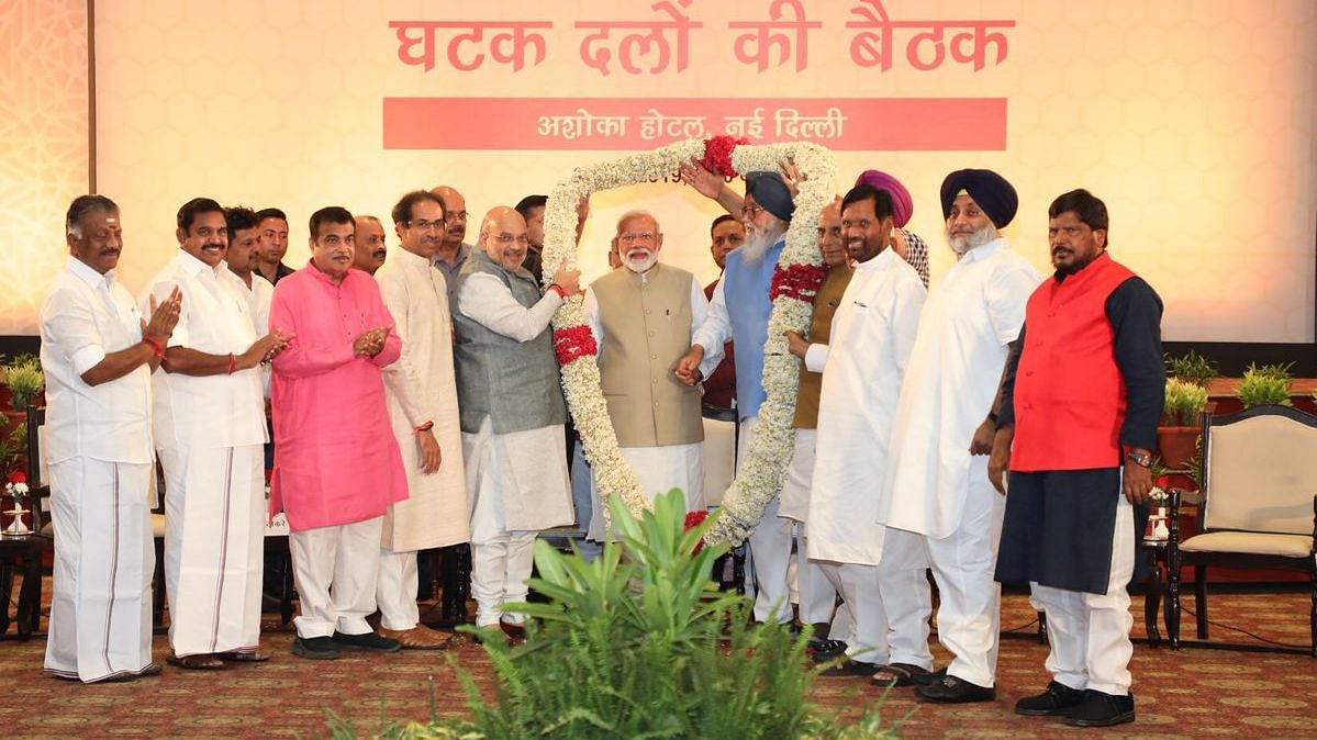 'Needless Controversy Over EVMs & EC': PM Modi at NDA Dinner