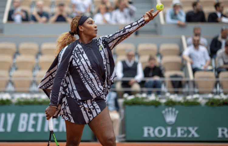 Serena Williams during her match in Paris at the French Open Tournament.