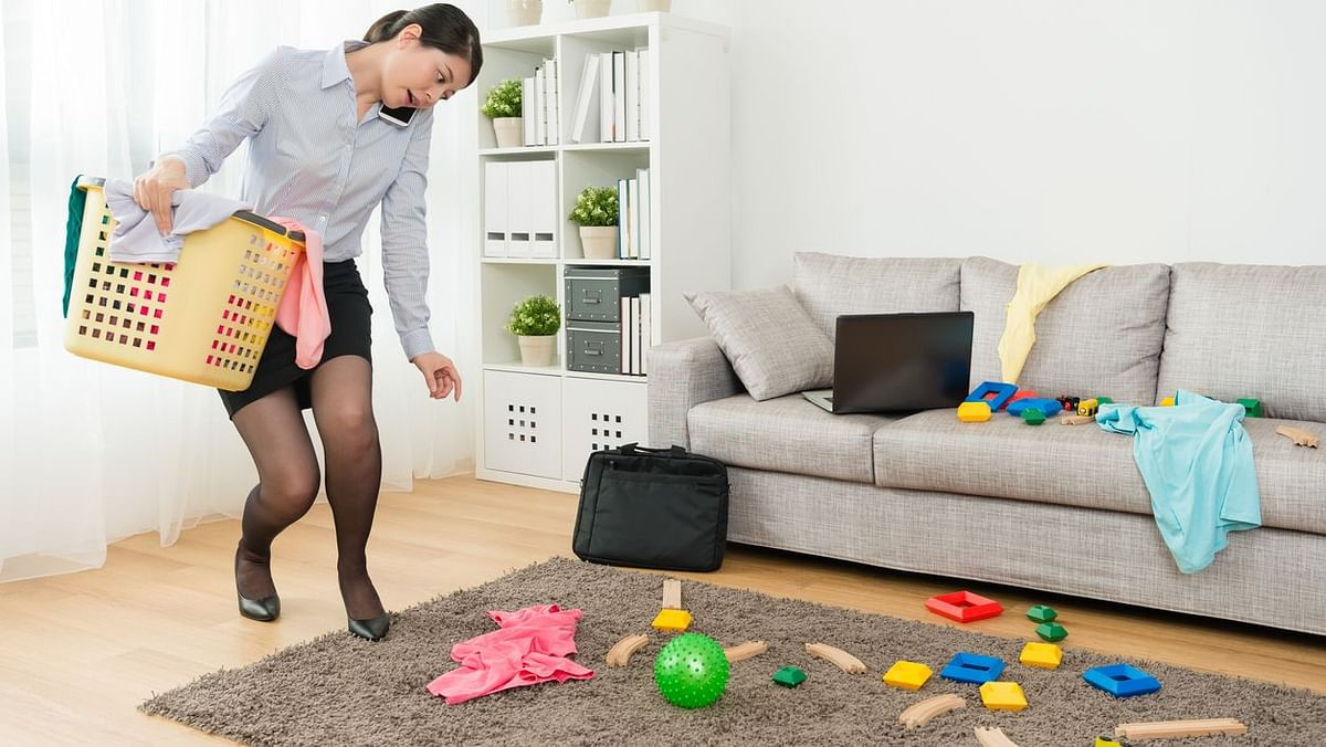 The responsibility of the household mostly falls upon the woman, even when she is working full-time.