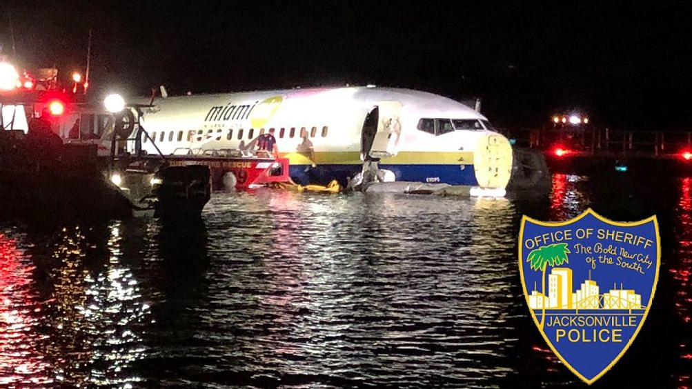 Boeing Jet With 136 People Skids off Runway in US, Lands in River