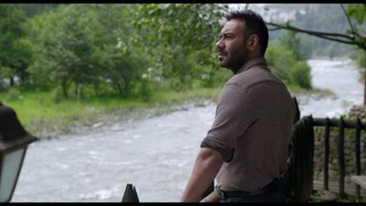 Ajay Devgn in a still from the song.