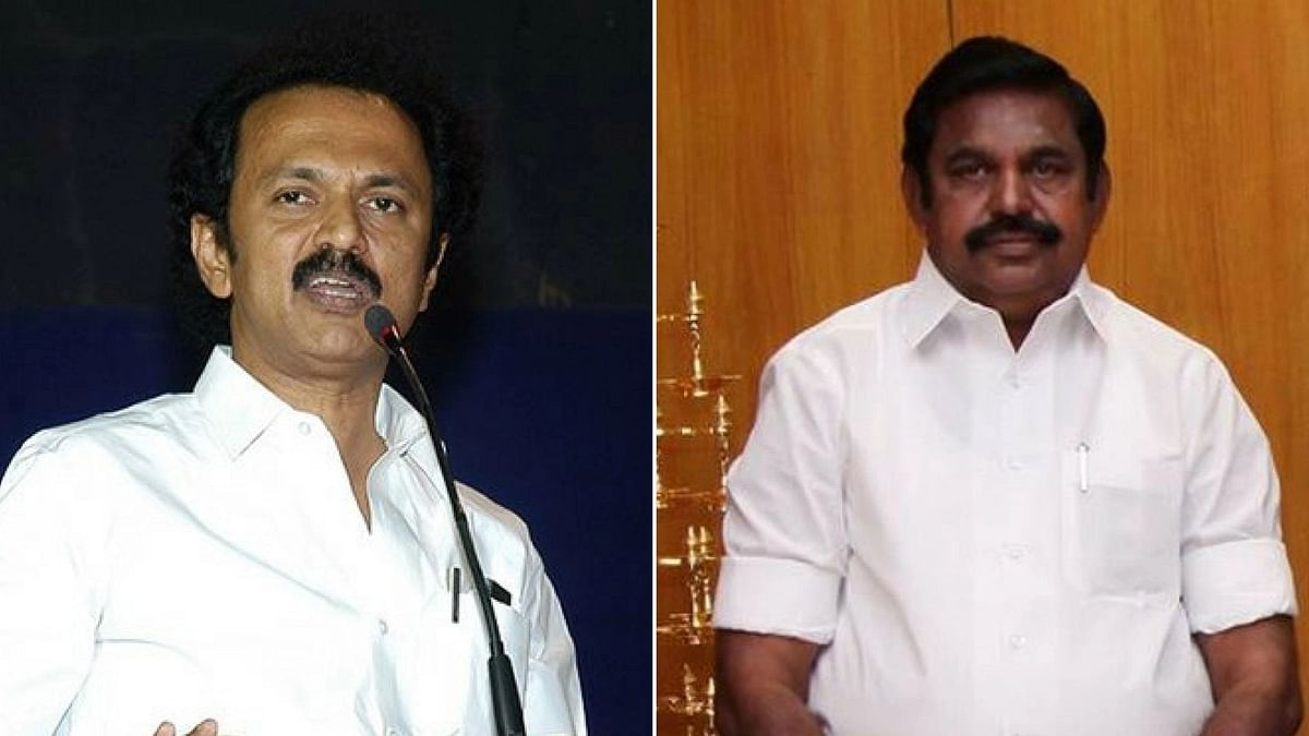 File image ofDMK's Stalin (left) and Tamil Nadu Chief Minister E Palanisamy.